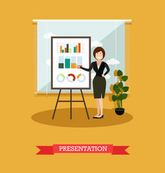 Presentation concept in flat vector