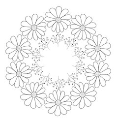 circular crown with flowers vector image