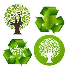 eco trees set vector image