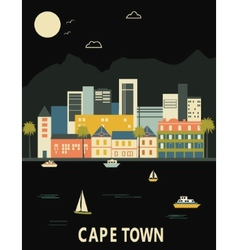 Cape town south africa vector