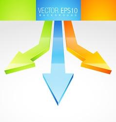 3d arrows in background vector image vector image