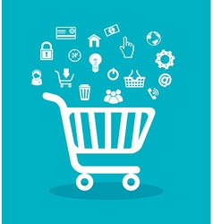 Shopping design vector
