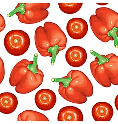 tomato pepper pattern vector image