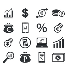 Finance icon set 2 simple vector
