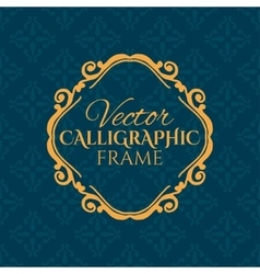 Luxury calligraphic vintage frame with beautiful vector
