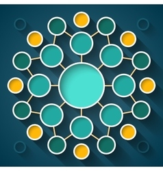 Abstract infographics symmetrical colorful circles vector