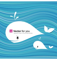 white whale paper materials design vector image