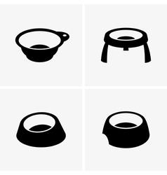 Dog bowls vector image