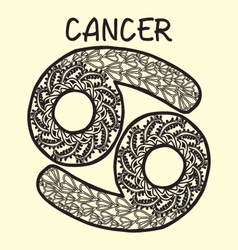 Cartoon cancer sign zodiac vector