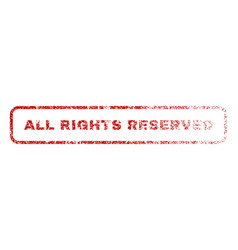 All rights reserved rubber stamp vector