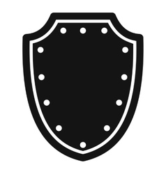 Army protective shield icon simple style vector