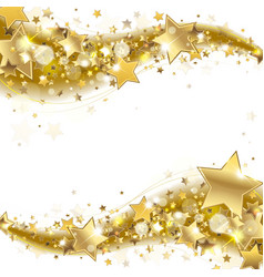 Banner with Gold Stars vector image