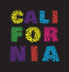 California surf typography t-shirt graphics vector image vector image