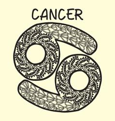 Cartoon cancer sign zodiac vector