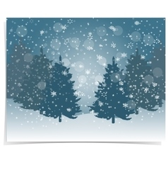 Christmas new year s gift card the stylized vector