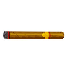 cigar icon cartoon style vector image