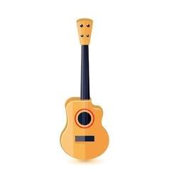 Classical acoustic guitar isolated vector