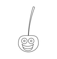 Figure kawaii happy cherry icon vector