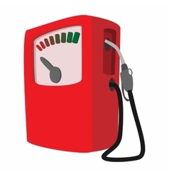 Gas station cartoon icon vector image