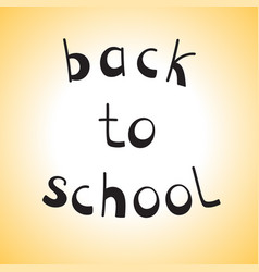 Hand drawn sketch back to school vector