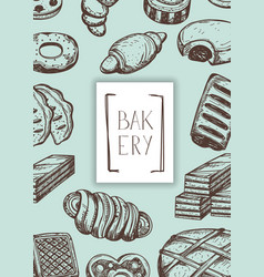 Homemade bakery product vintage banner vector