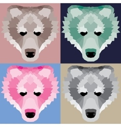 Low poly bears set vector image vector image