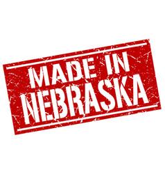 Made in nebraska stamp vector