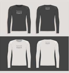 Mens long sleeve t-shirt vector