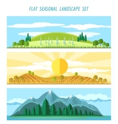 Nature landscape banners vector image