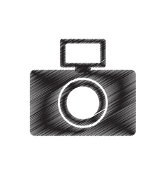 Photographic camera picture flash draw pictogram vector