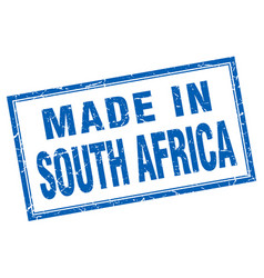 south africa blue square grunge made in stamp vector image vector image