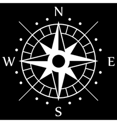 White Compass Symbol vector image vector image