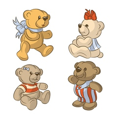 Teddy bears vector