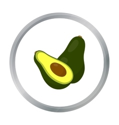 Avocado icon cartoon singe fruit icon vector