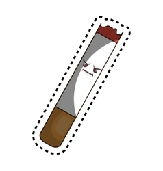 Cigarette character funny icon vector