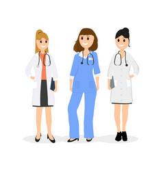 Group of women doctors vector