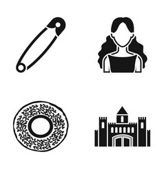 Beauty hairdresser and or web icon in black style vector