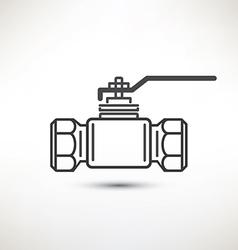 Ball valve symbol vector