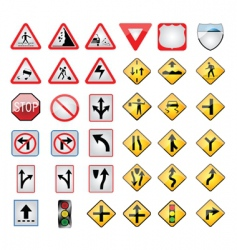 transport signs vector image