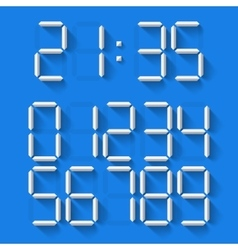 Digital clock numbers vector
