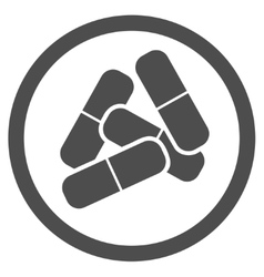 Drugs icon from business bicolor set vector