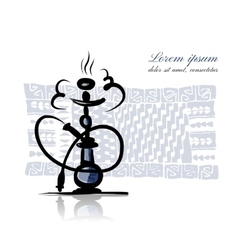 Hookah sketch for your design vector