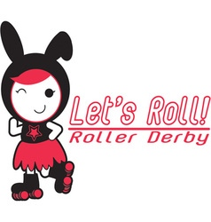 Roller derby - lets roll vector