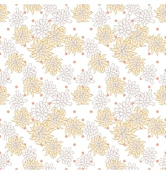 Retro chic flower pattern on fine polka dot vector image