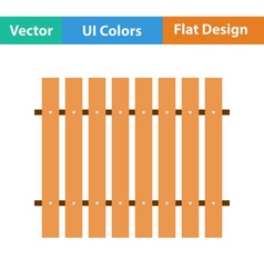 Flat design icon of construction fence in ui vector