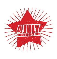 July 4th independence day of america emblem in vector