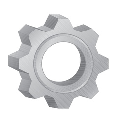 Gear design for technology machinery on white vector