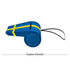 A Whistle of The Kingdom of Sweden vector image