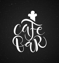 Cafe bar restaurant lounge logotype vector