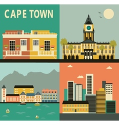Cape town city vector